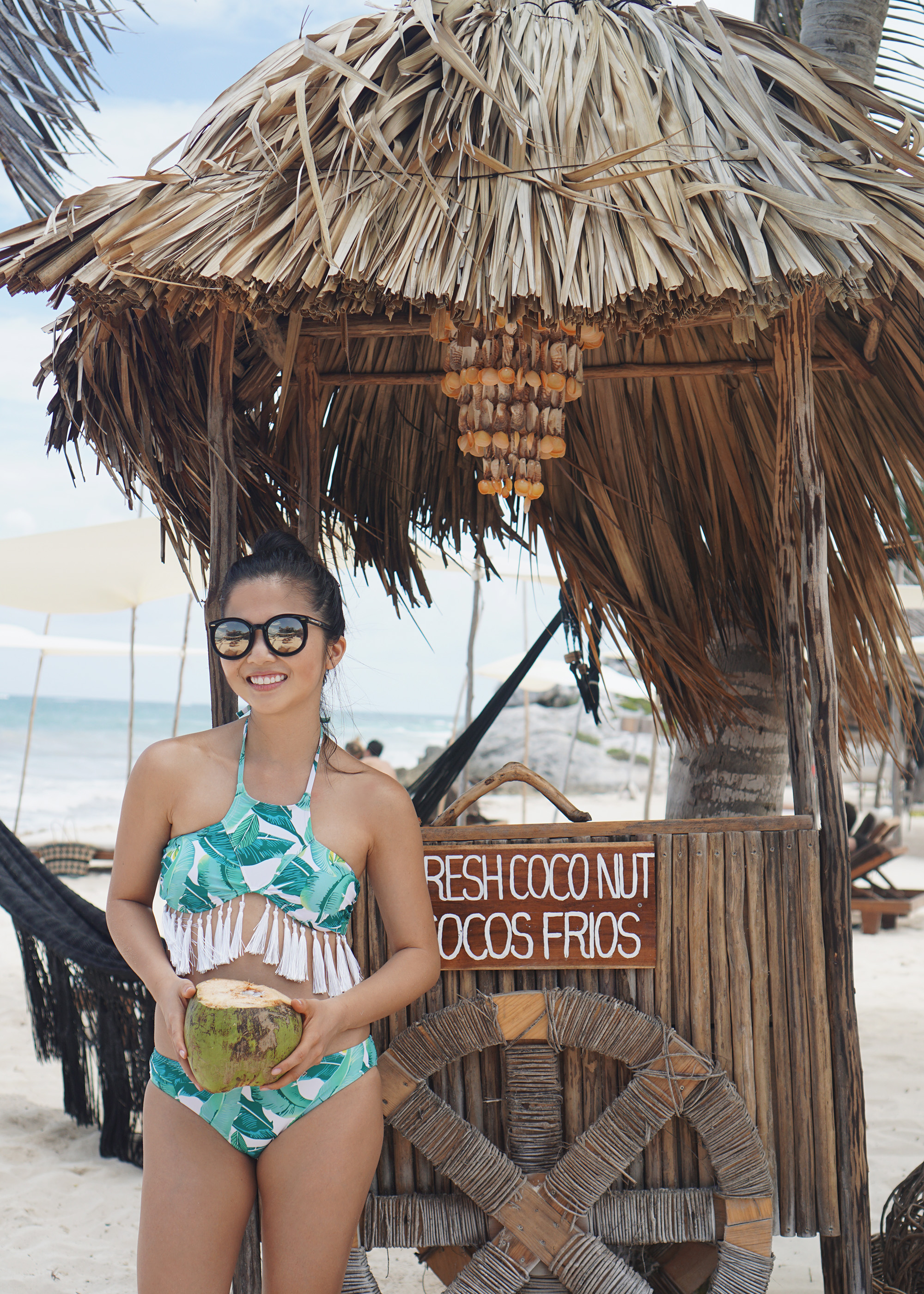 Skirt The Rules / Palm Print Bikini