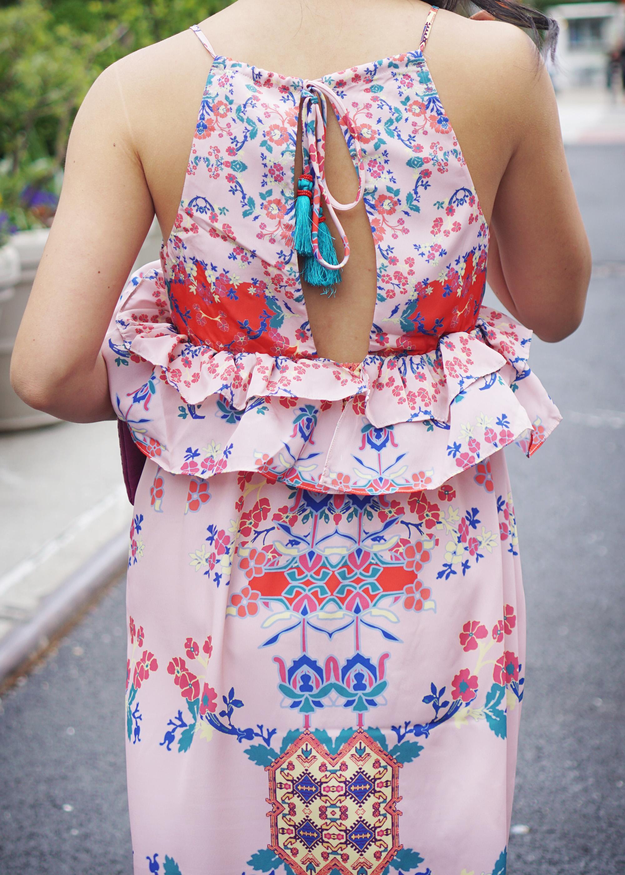 Skirt The Rules / Pink Peplum Maxi Dress