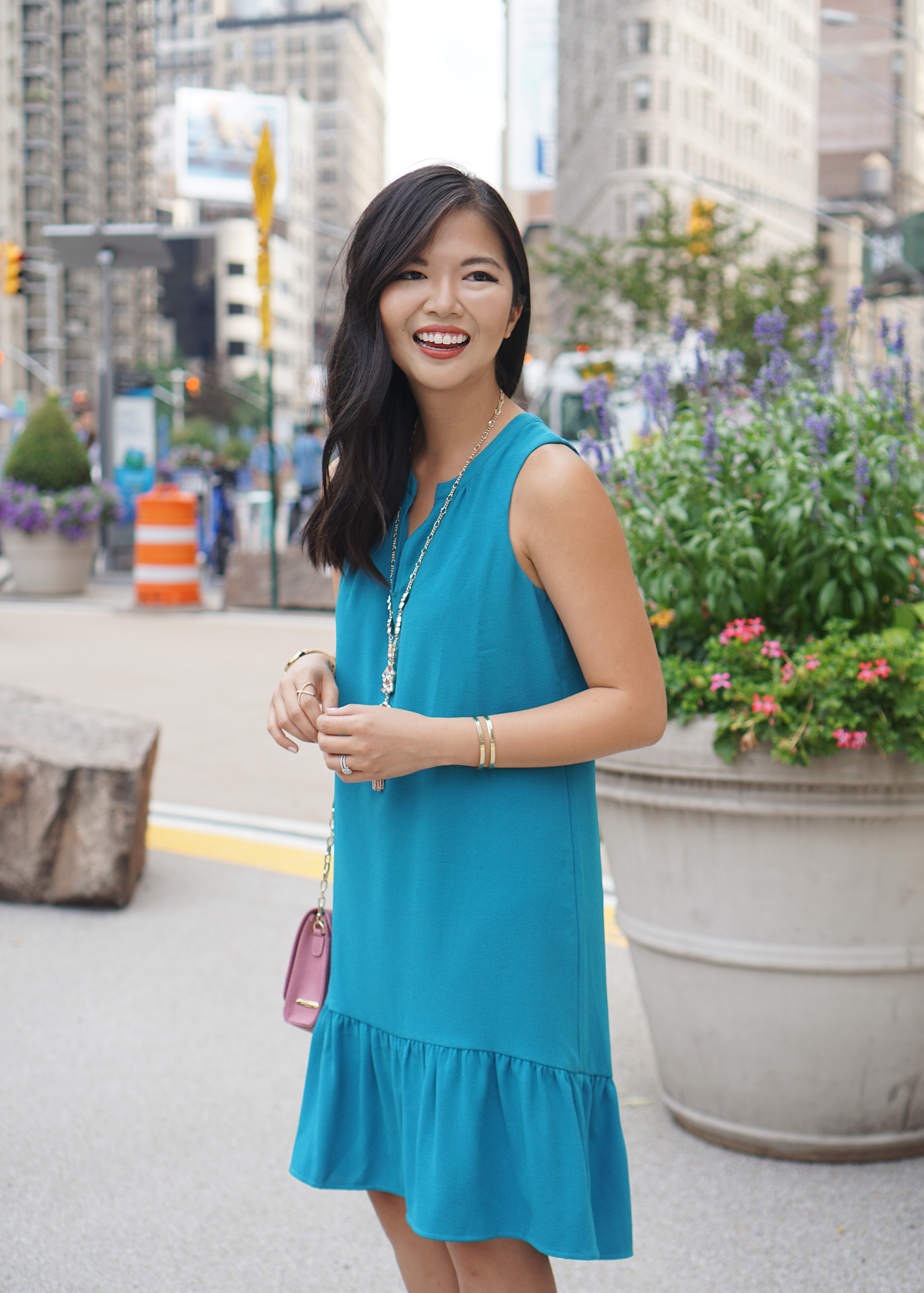 Turquoise Sleeveless Dress #WeartoWork