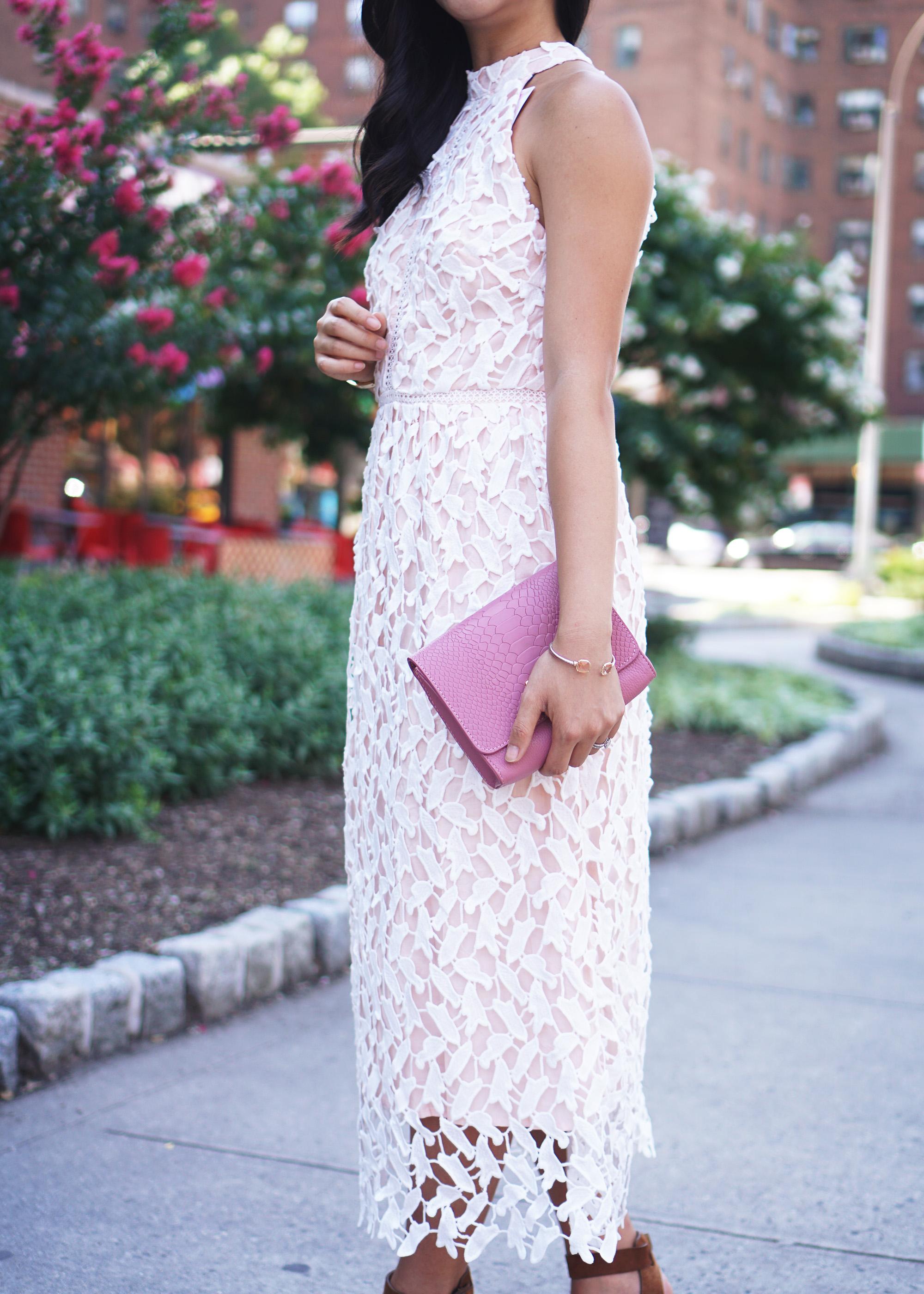 Summer Style Inspiration: White Lace Midi Dress