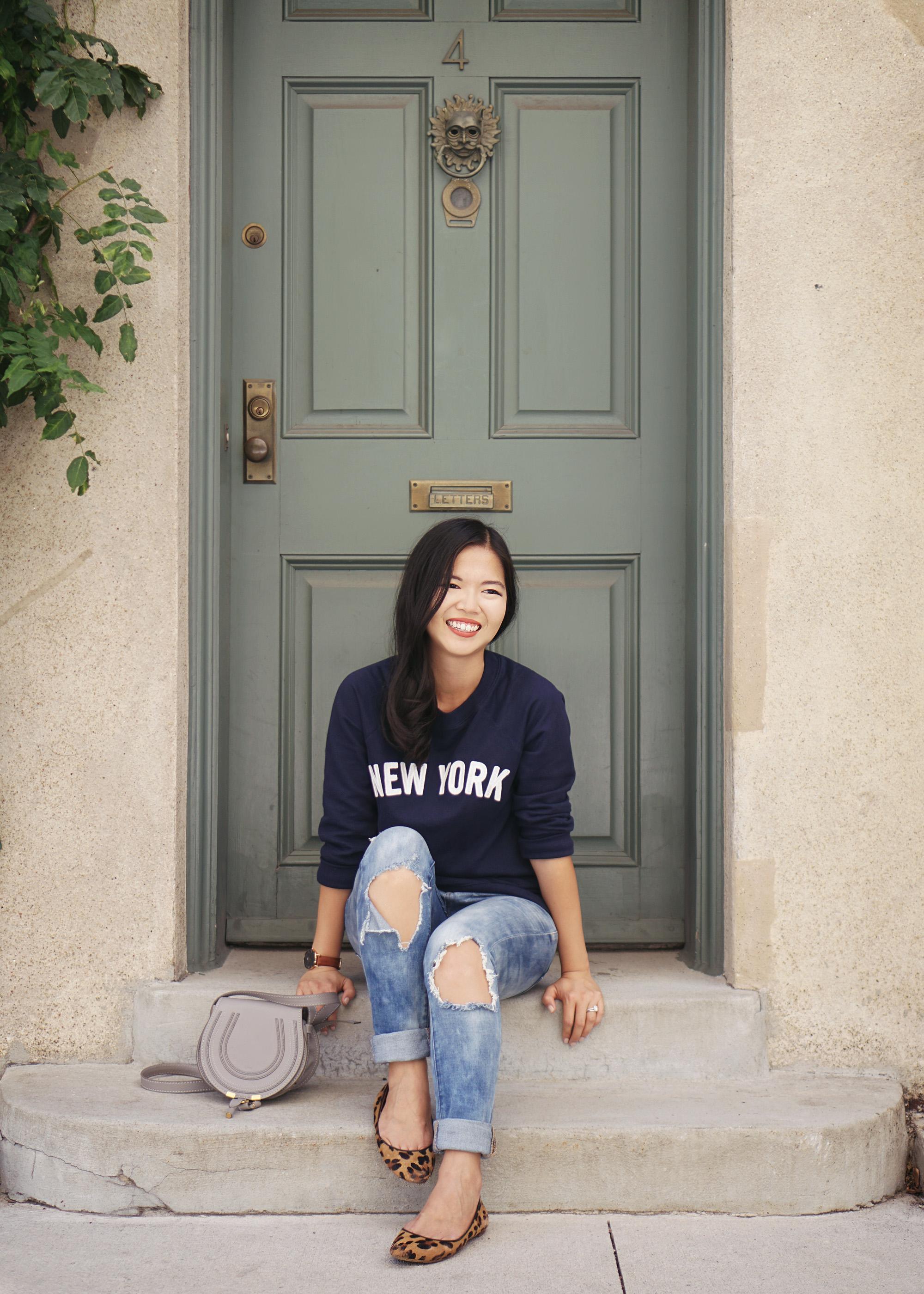 Navy New York Sweatshirt