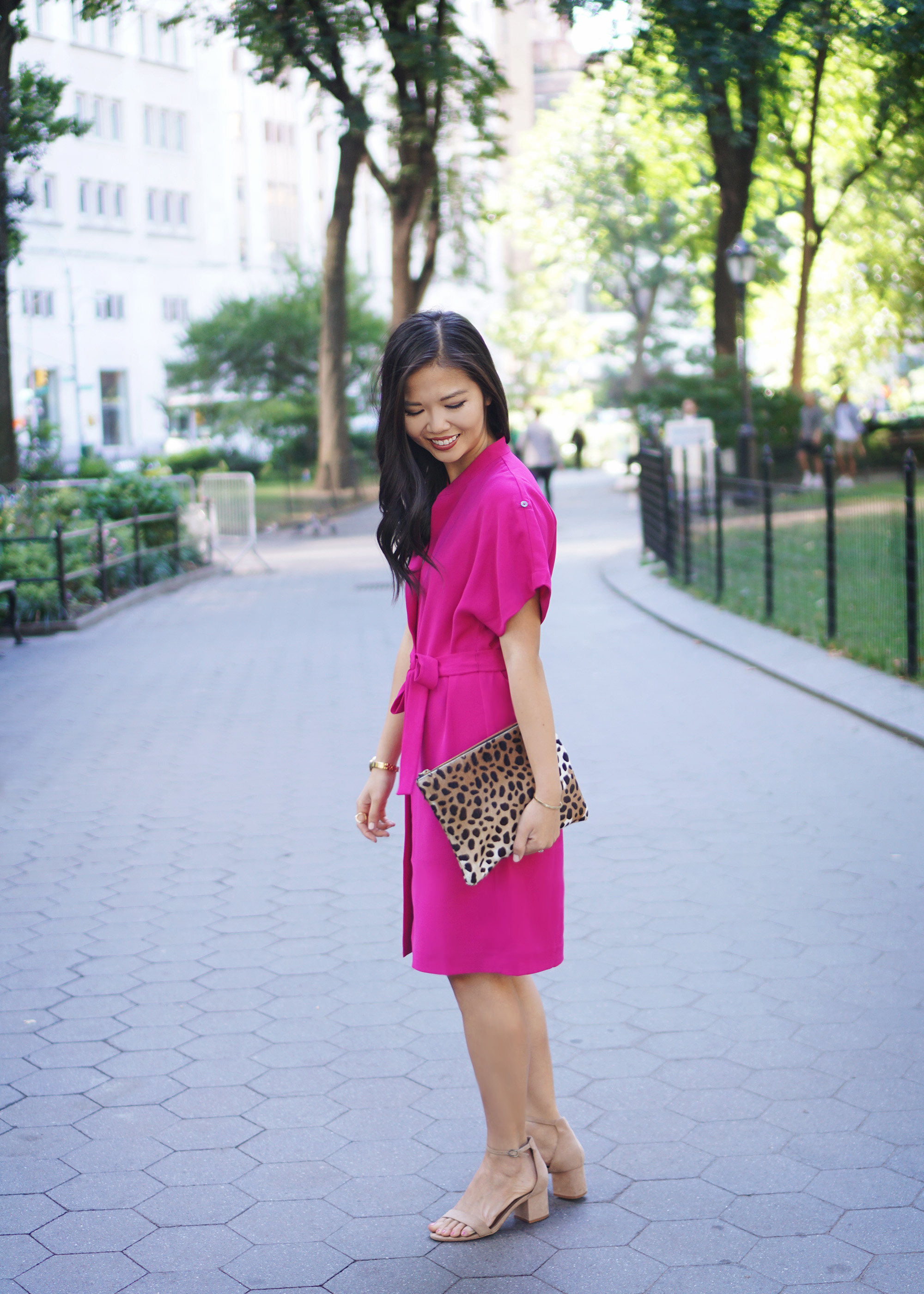 Office Style Inspiration: Fuschia Shirtdress