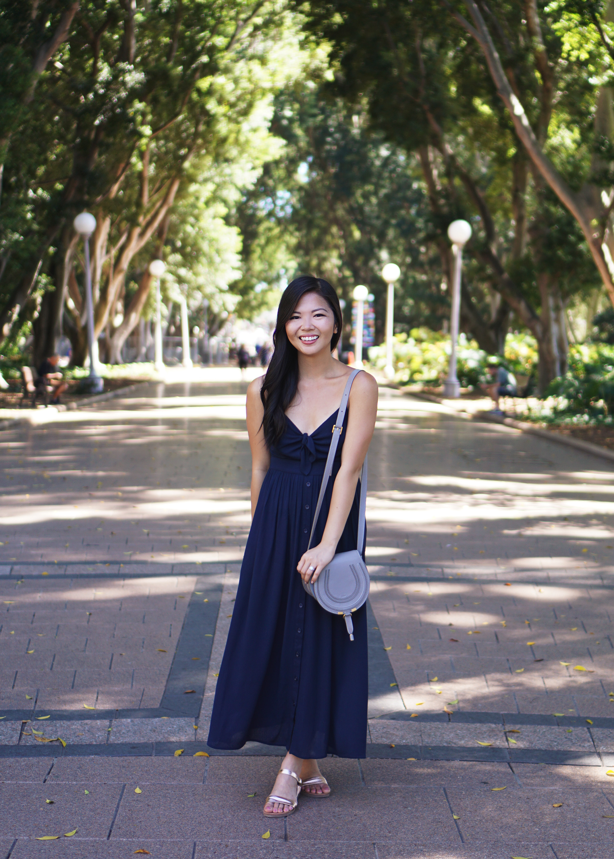 Summer Style in Sydney / Navy Maxi Dress