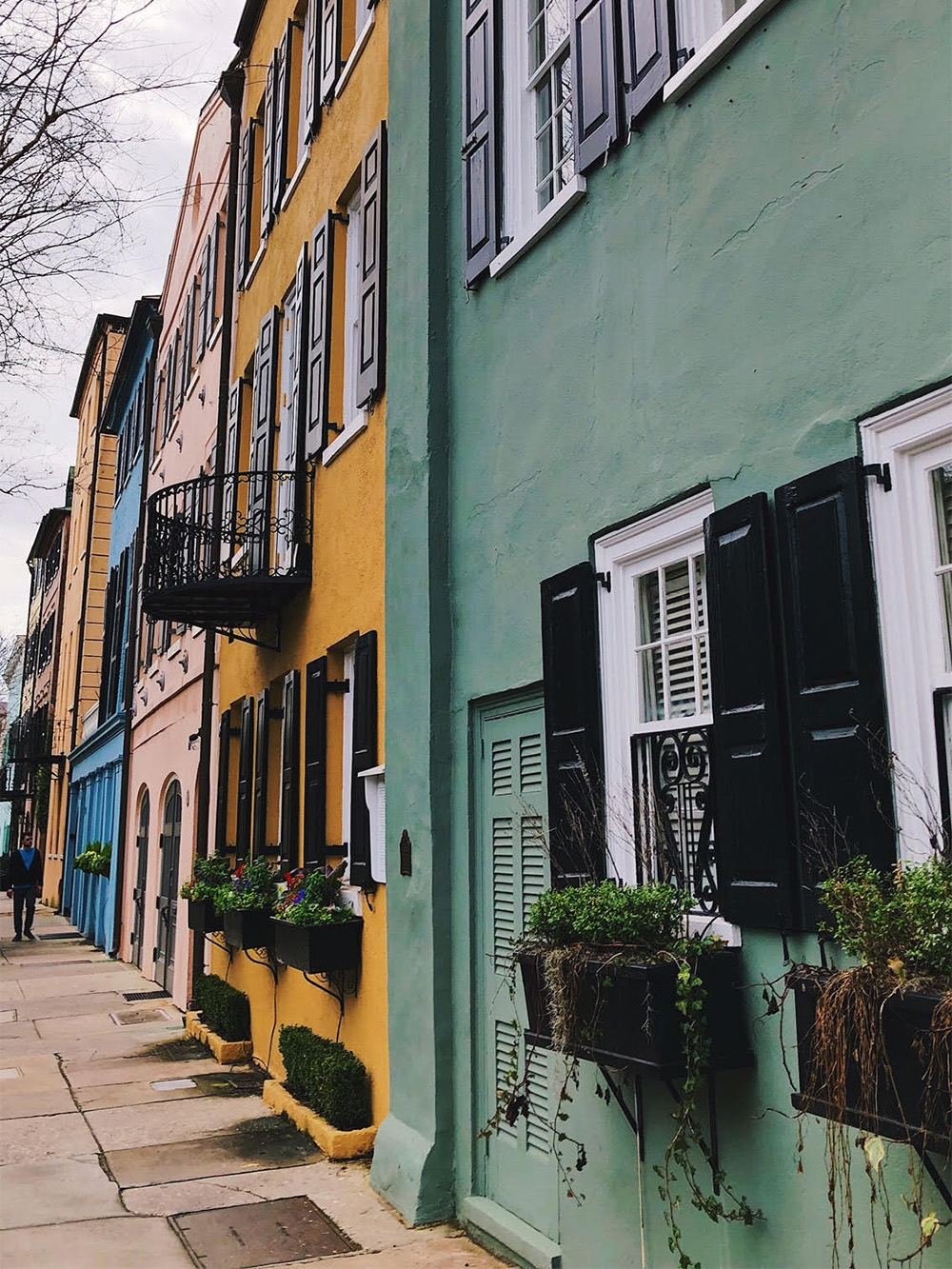 Rainbow Row in Charleston, South Carolina