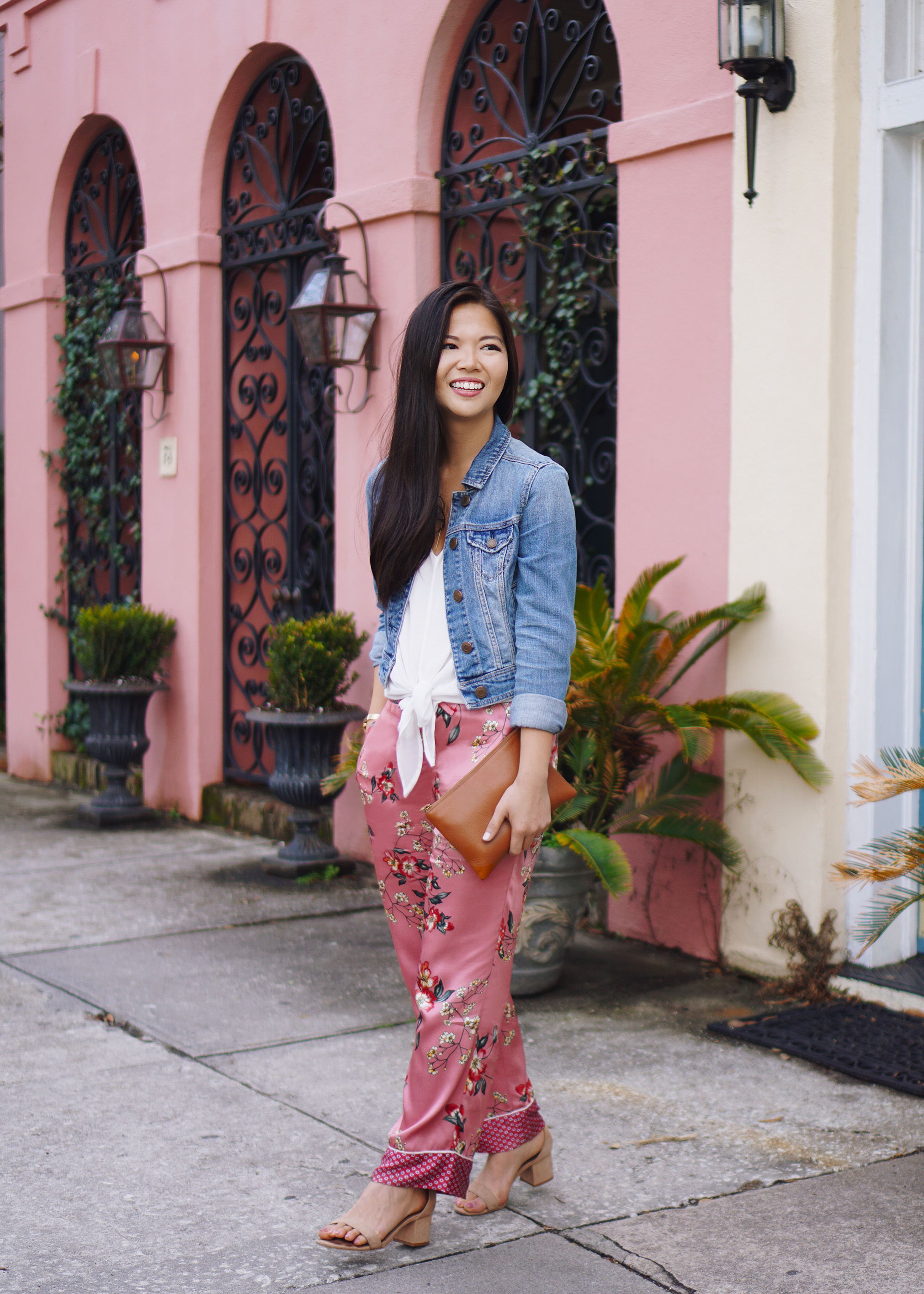 Spring Outfit Inspiration: Floral Pajama Pants
