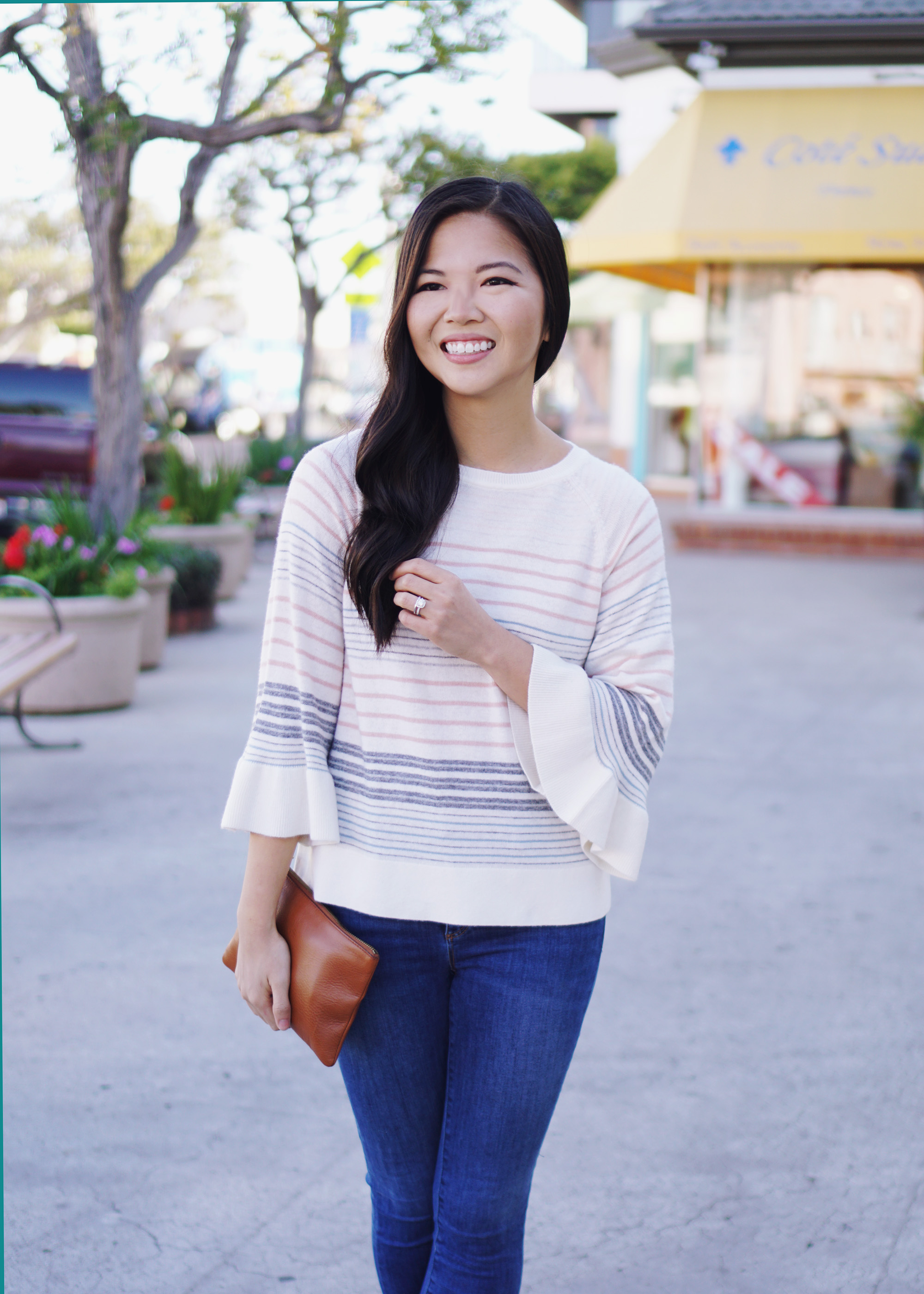 Spring Sweaters / Pastel Stripes & Bell Sleeves