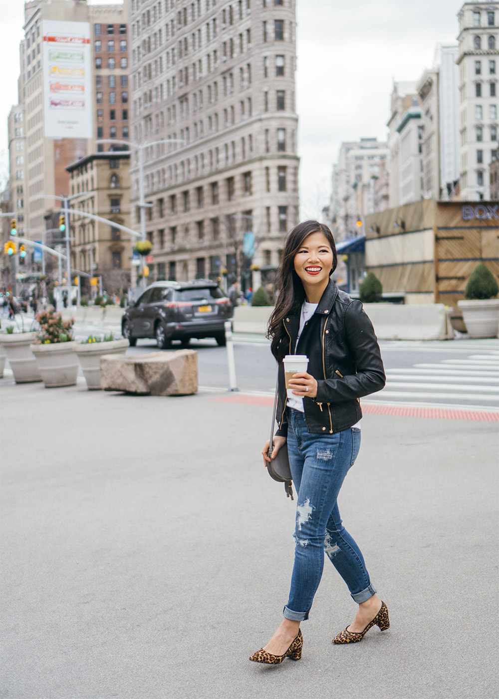Weekend Style Inspiration / Leather Jacket & Ripped Jeans