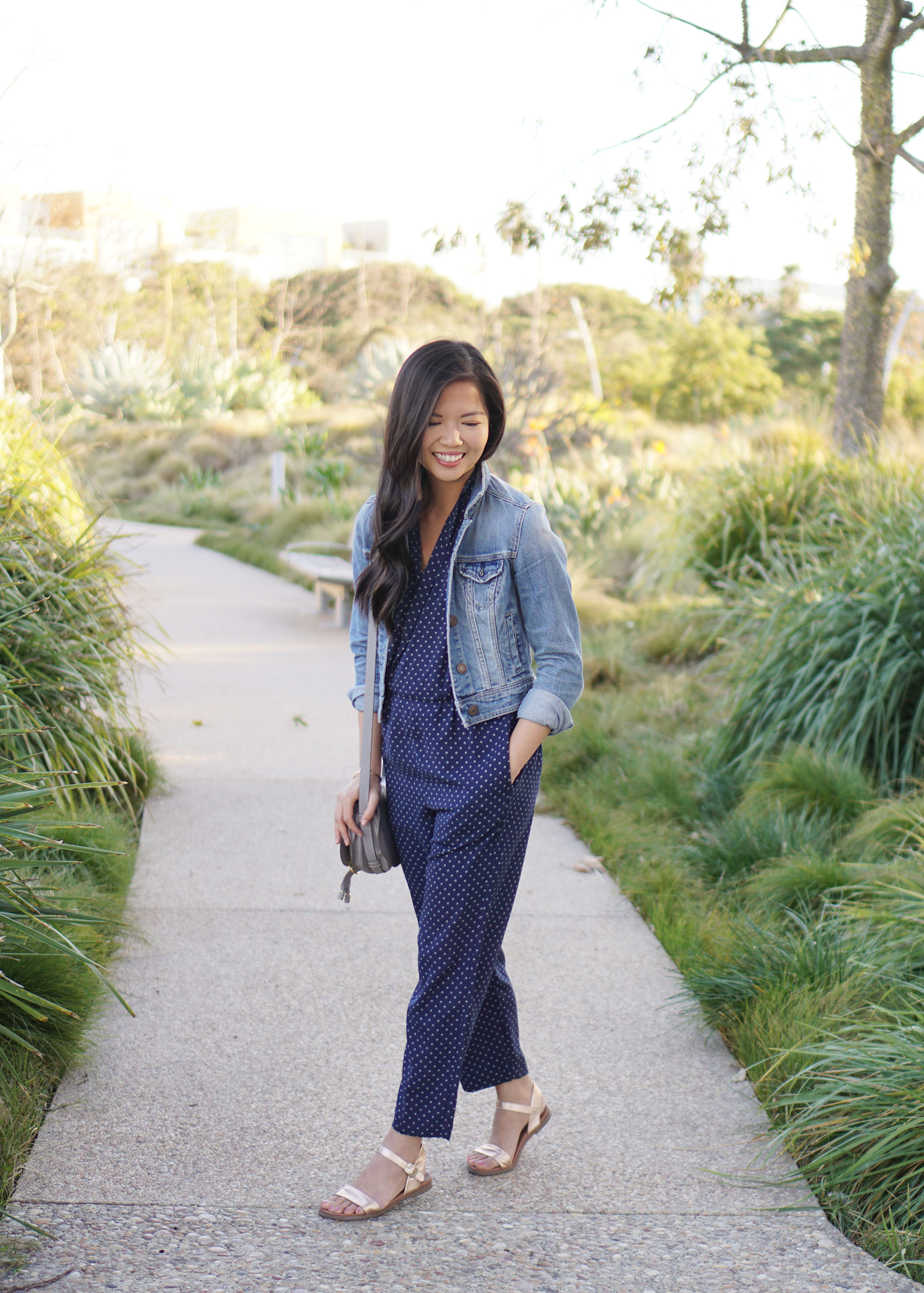 Spring Outfit / How to Wear a Jumpsuit if You're Short