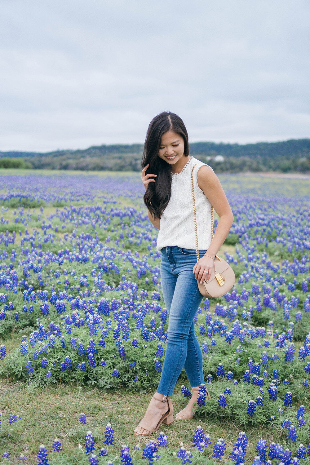 Spring Style / Lace Top & Skinny Jeans