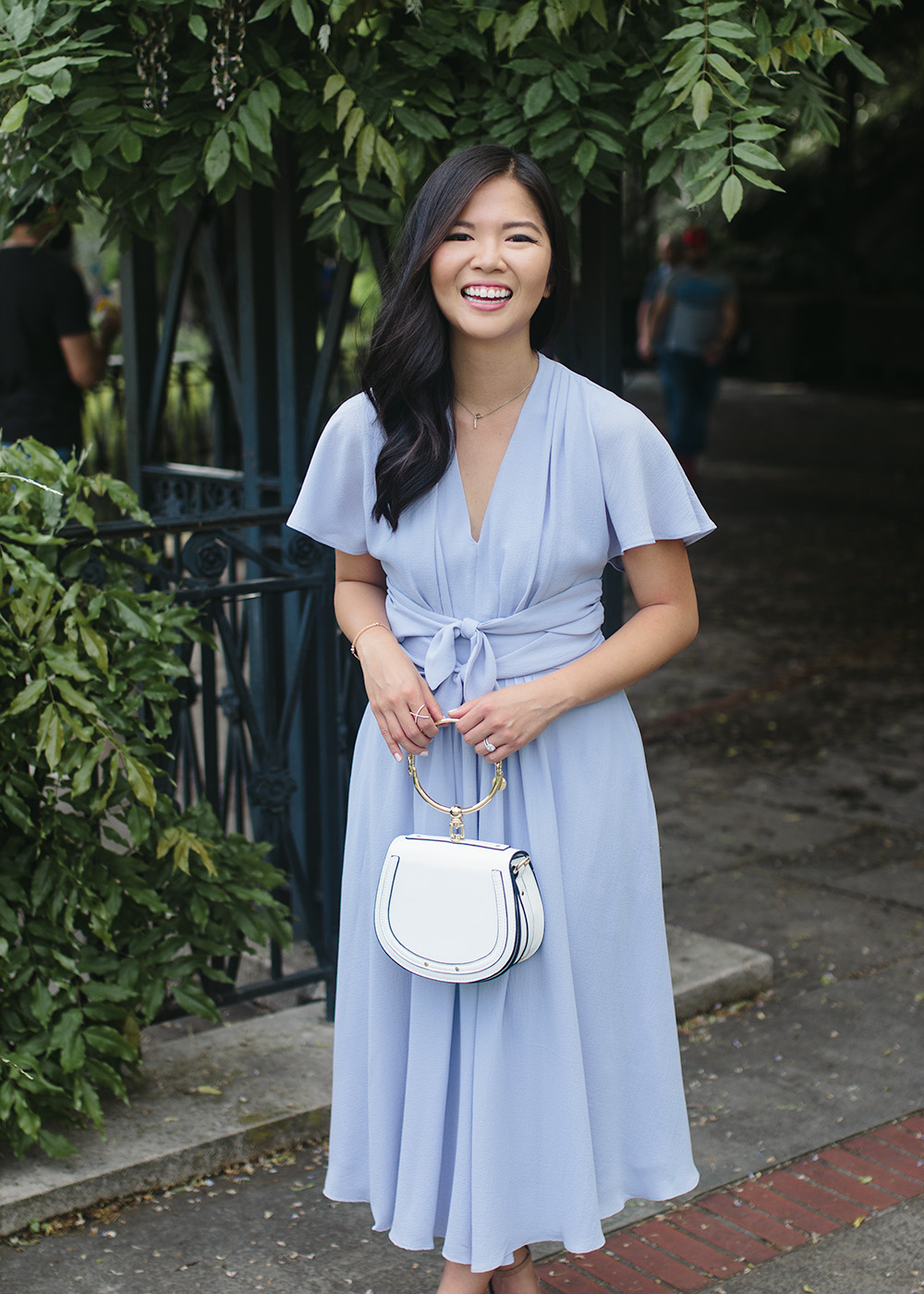 Spring Wedding Guest Style / Periwinkle Dress