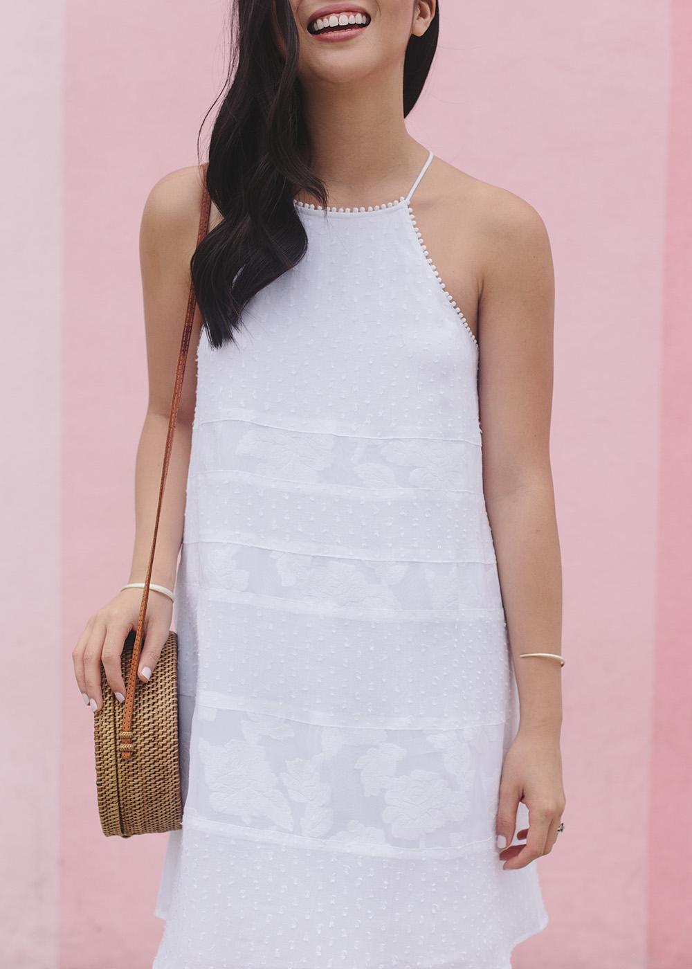 Summer Style Inspiration / White Swing Dress & Straw Circle Bag