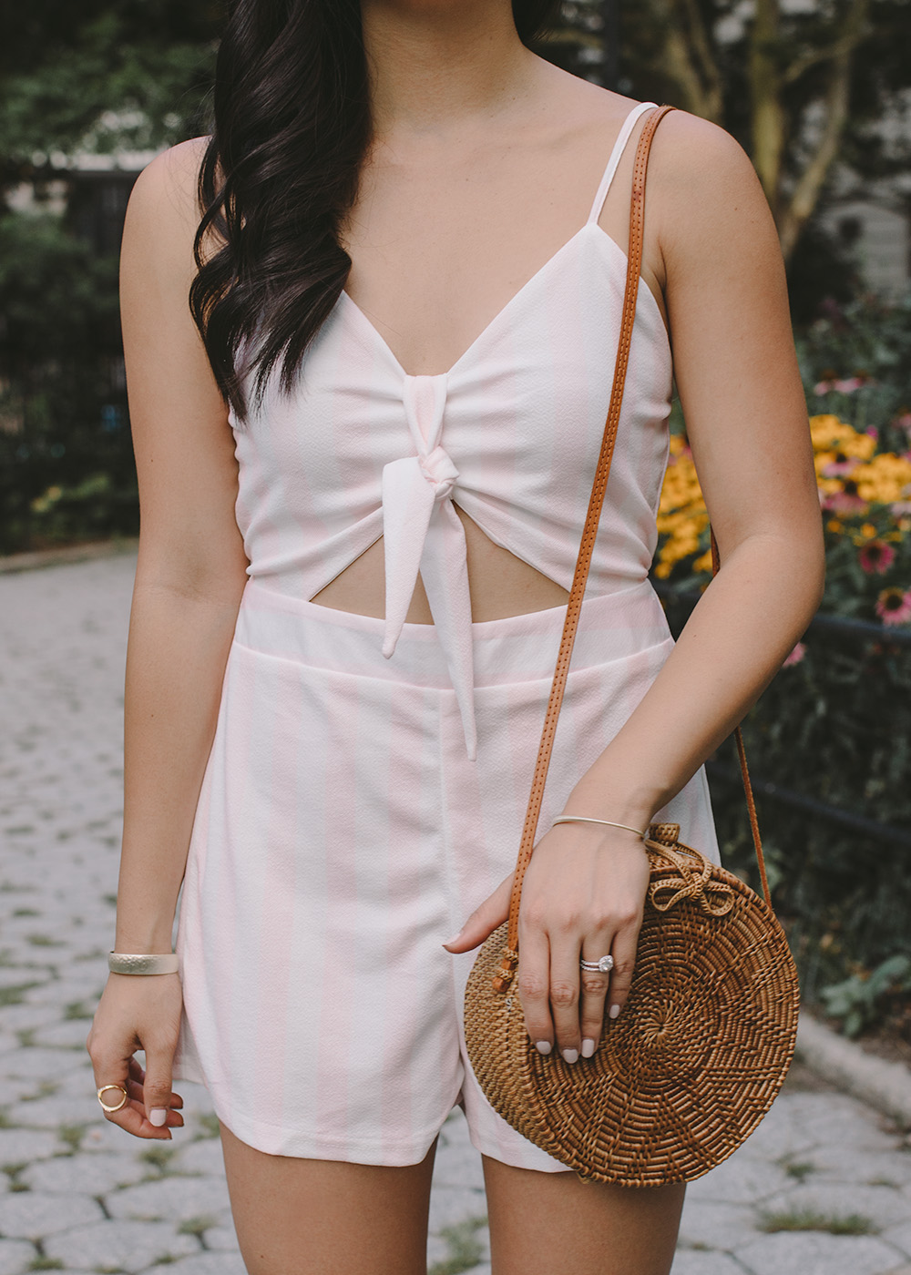 Summer Style / Straw Circle Bag