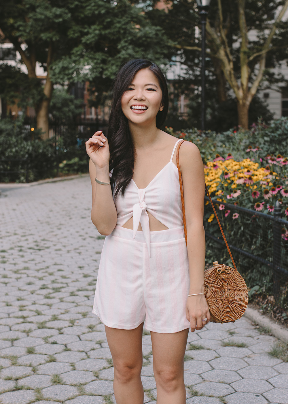 Summer Style / PInk & White Striped Romper