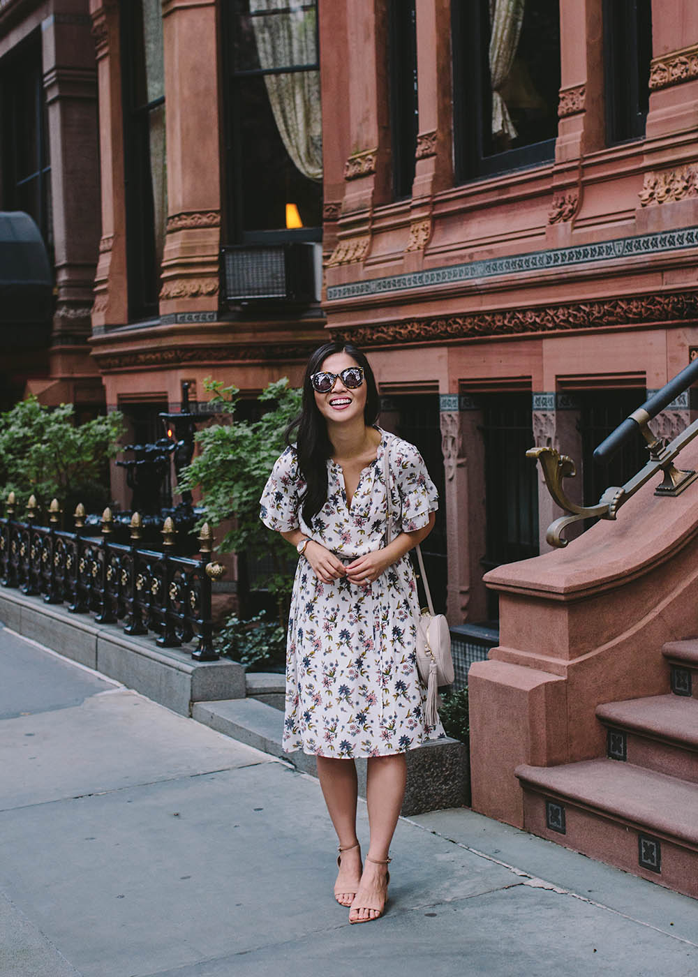 Summer Style / White Floral Print Dress