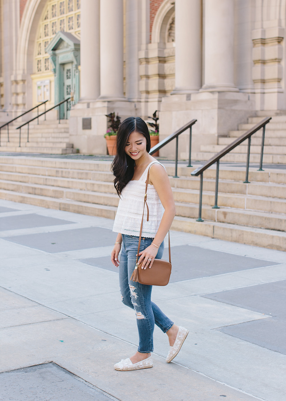 0c911990bf609 How to Add Texture to a Simple Outfit - Skirt The Rules