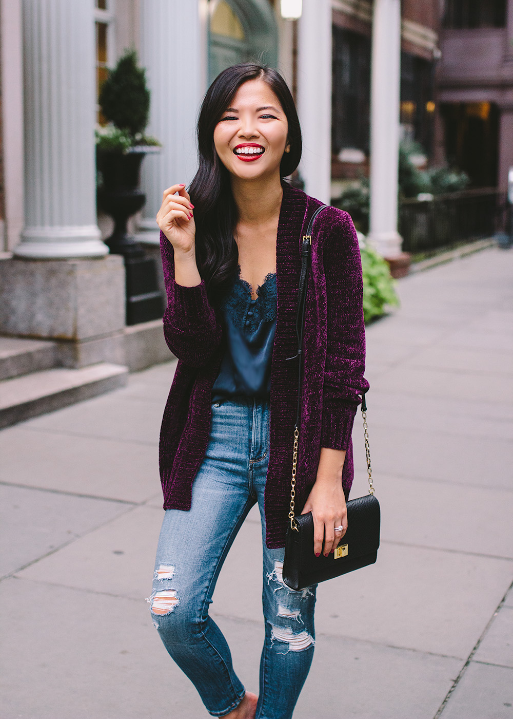 What to Wear Fall 2018 / Chenille Cardigan