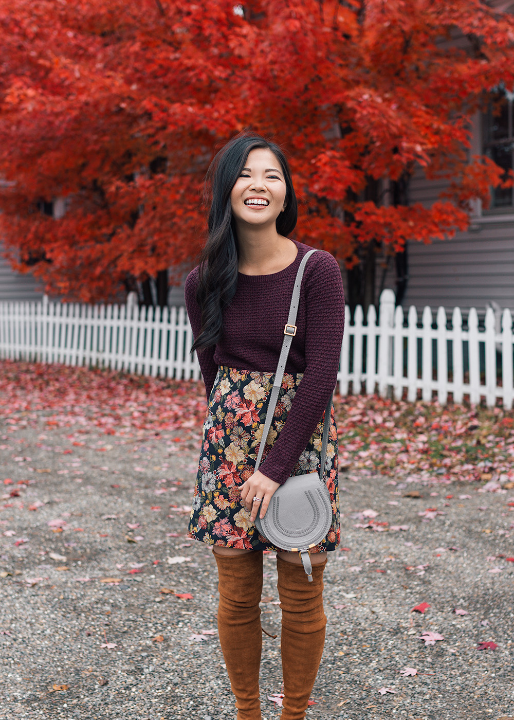 How to Wear Skirts in the Fall