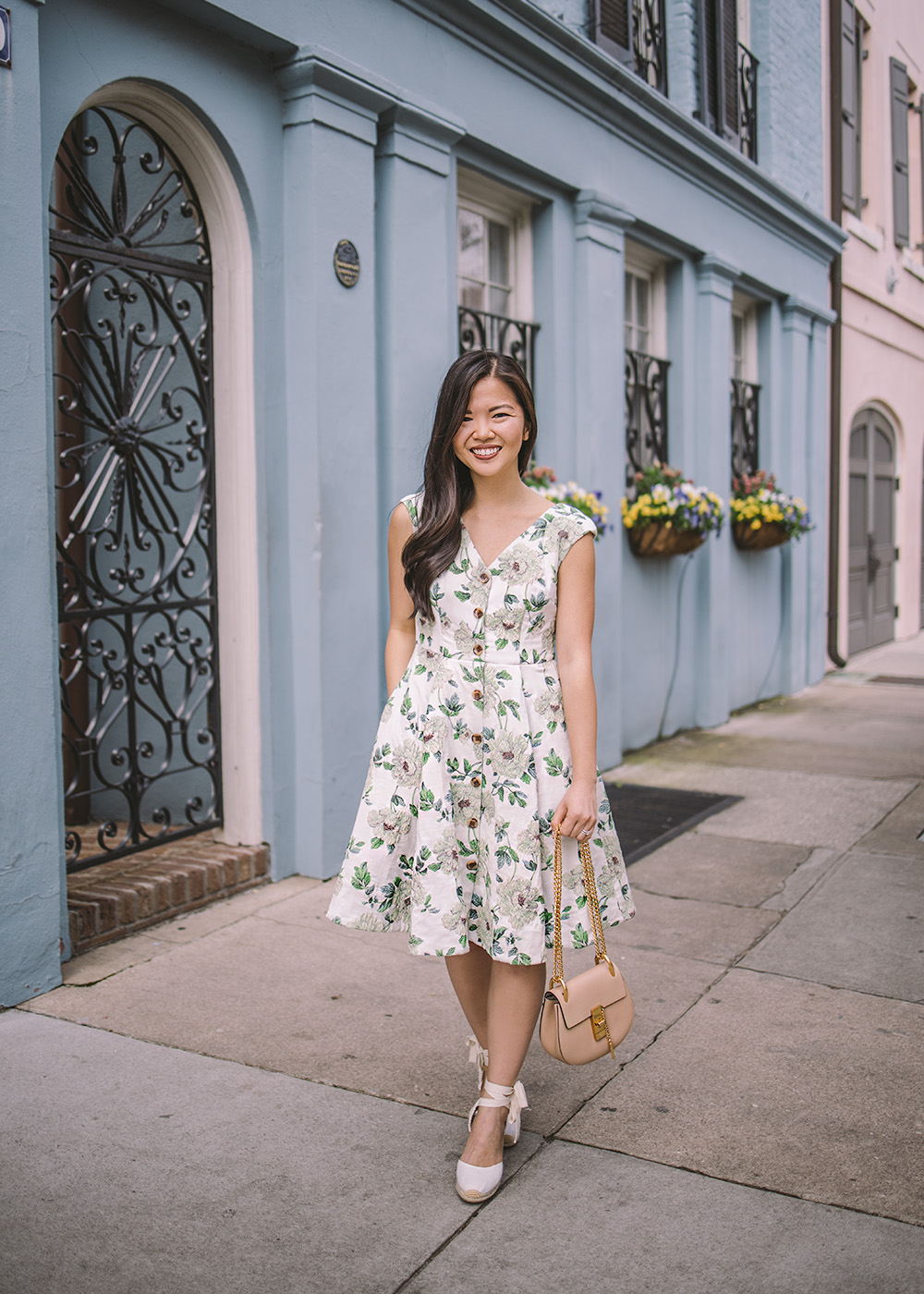 Spring Style / Floral Dress with Pockets