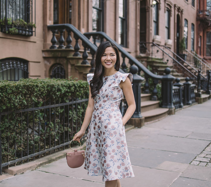 Spring Outfit Ideas / Floral Dress with Pockets & Ruffles