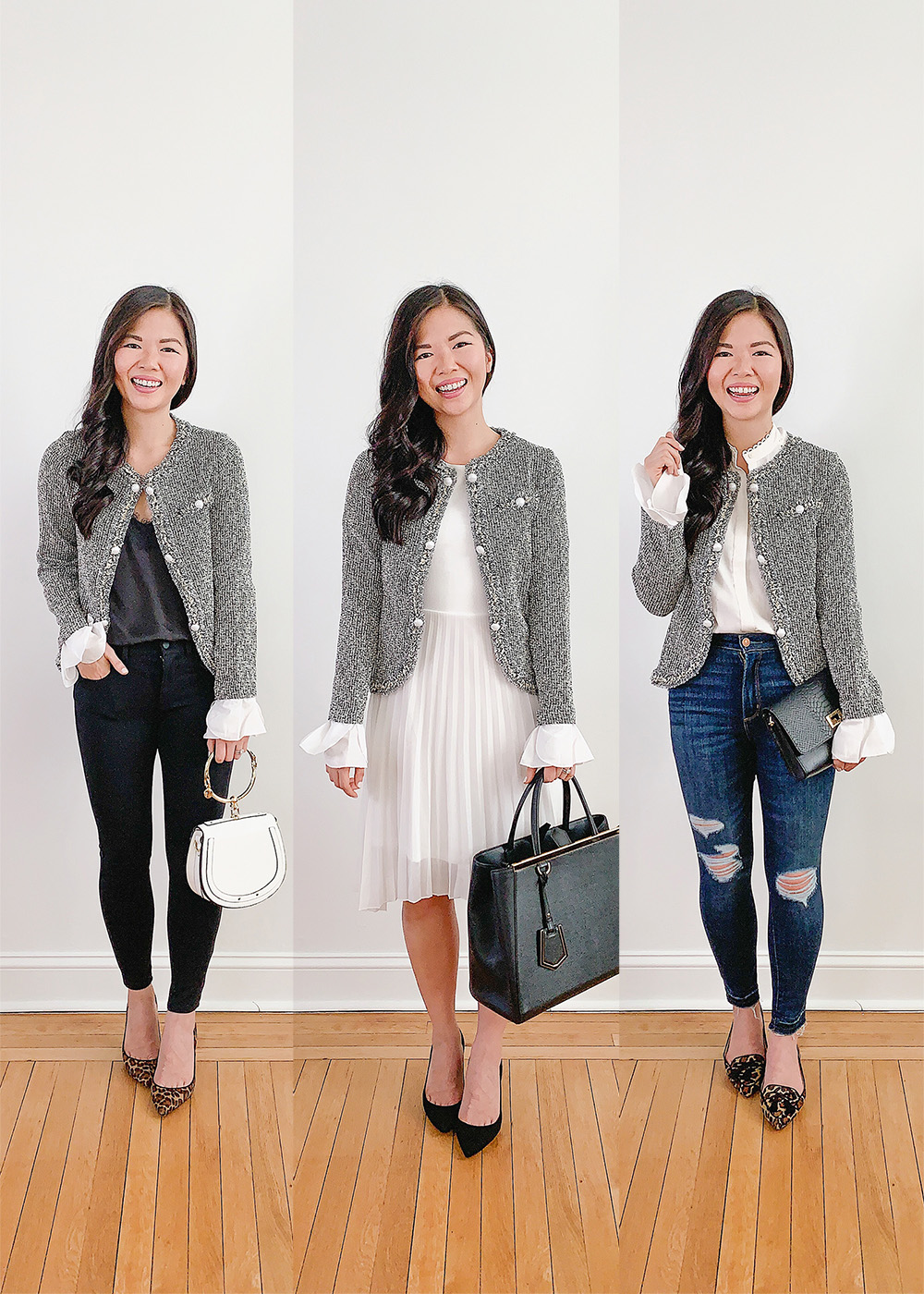 Office Style Inspiration / How to Wear a Tweed Jacket