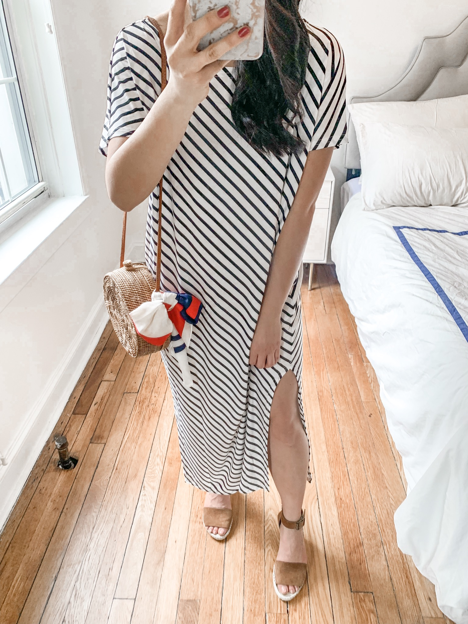 Summer Style / Striped Shirt Dress