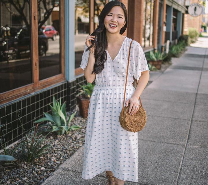 Spring Style / Pom Pom Midi Dress