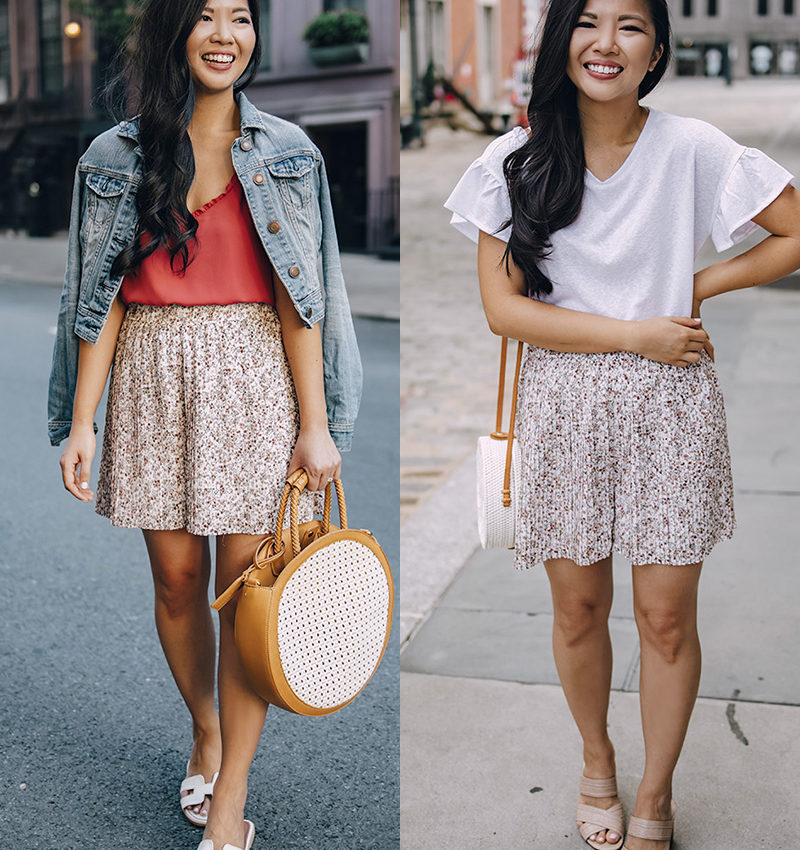 Two Ways To Wear Floral Pleated Shorts