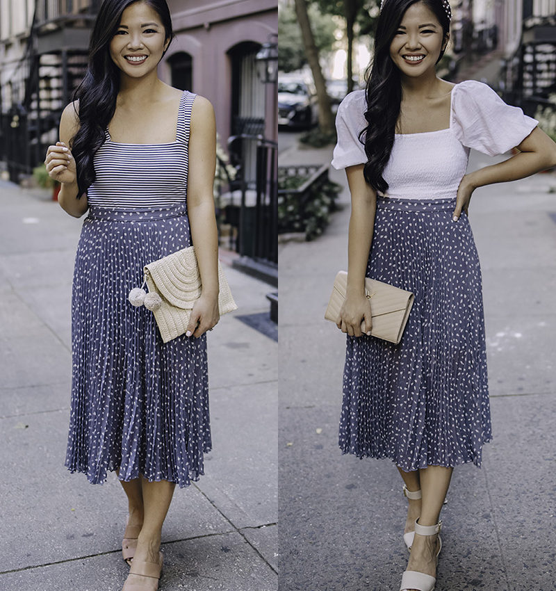 Versatile Outfits for Women: How to Wear a Pleated Midi Skirt
