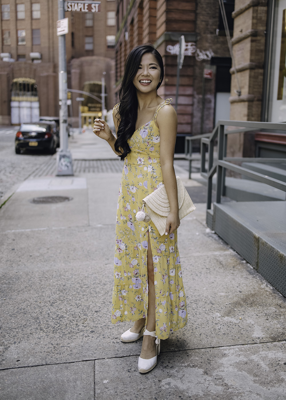 Summer Outfit: Yellow Floral Maxi Dress