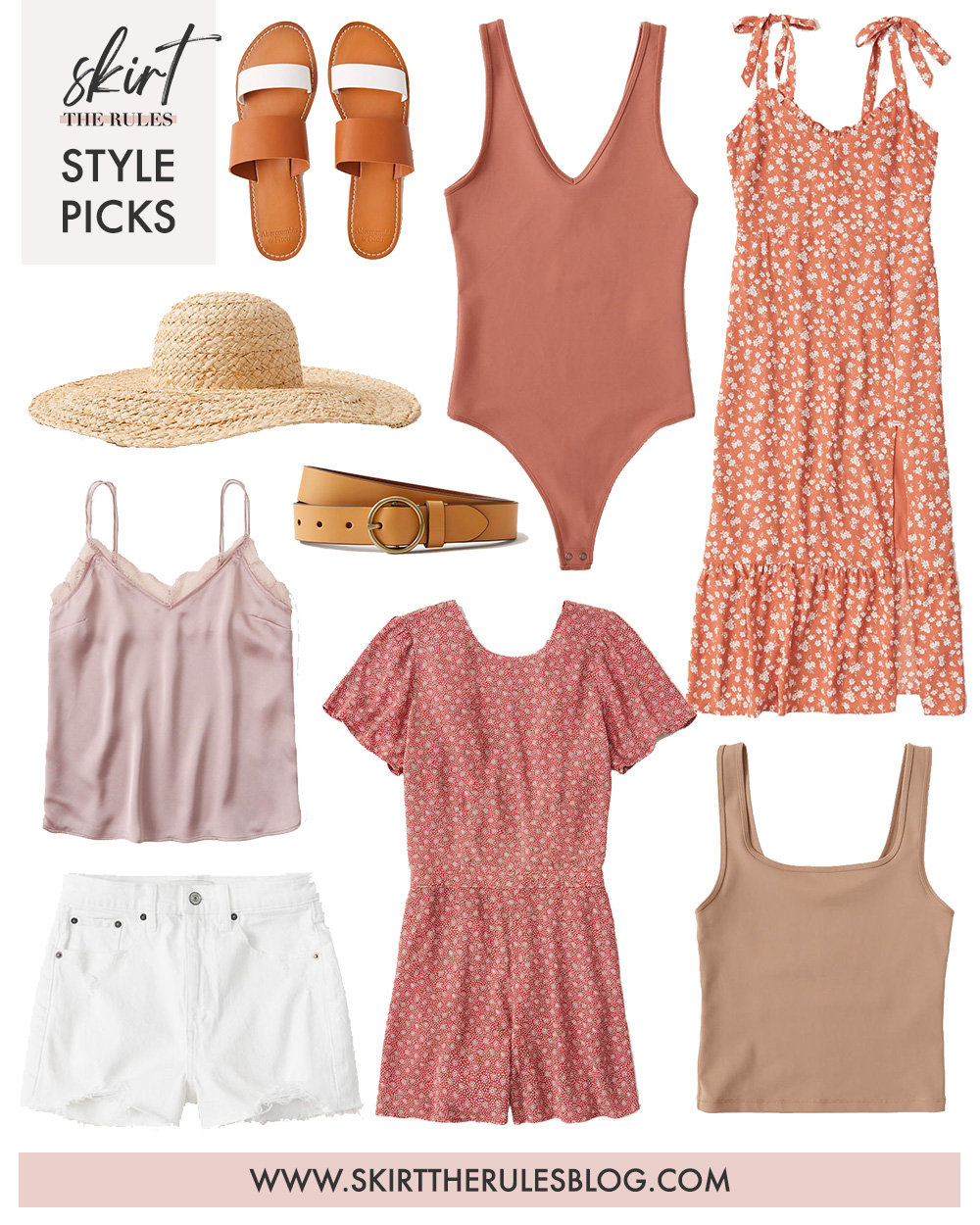 Collage of Summer Clothing from Abercrombie & Fitch